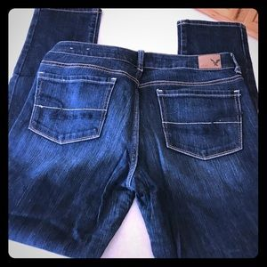 """AEO jeans size 8 short """"skinny stretch"""""""
